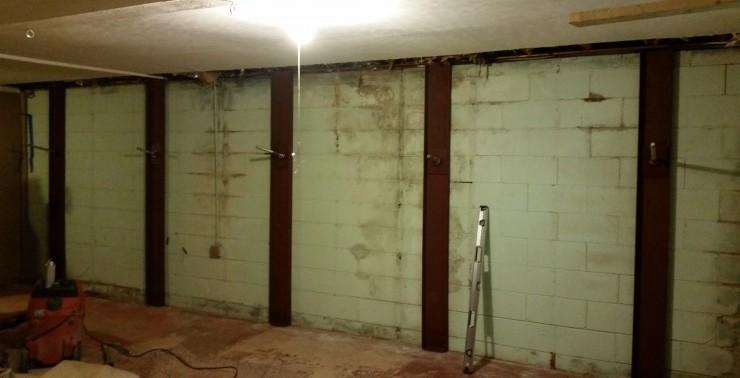 Carbon Fiber Basement Repair residential & builder basement wall repair in nc & sc