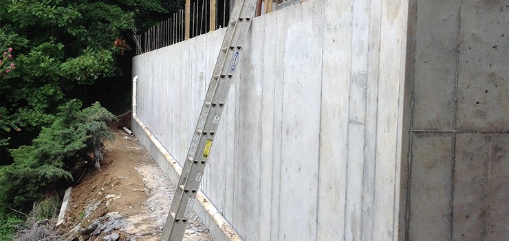 Residential retaining wall repair installation nc sc for Concrete home builders in georgia