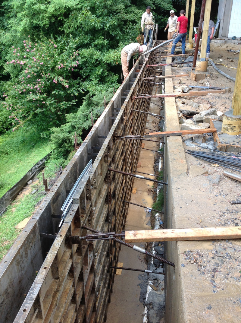 Fixing A Leaning Retaining Wall : Retaining walls foundation repair services inc
